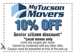 Seior citizen coupon for local moving services.